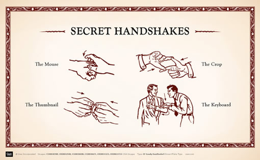 1) The Handshake, the book and much ado about nothing. Secret-handshakes